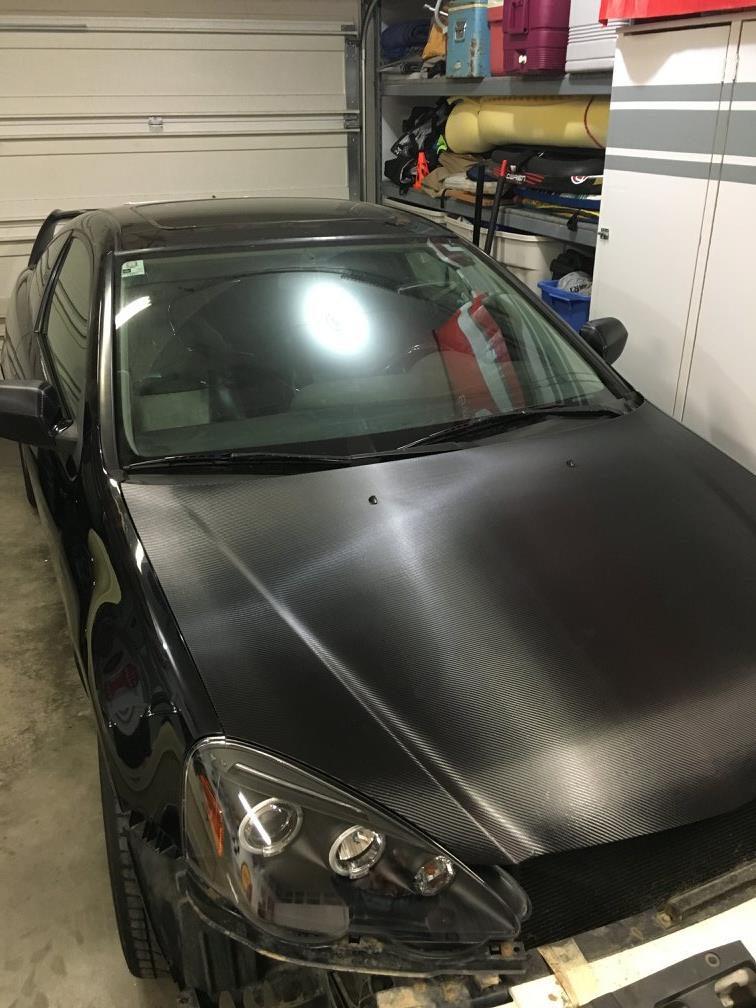 carbon hood wrap