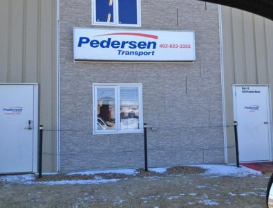 Pederson Transport Sign